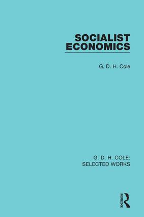Socialist Economics (Hardback) book cover