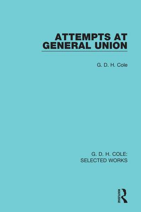 Attempts at General Union (Hardback) book cover