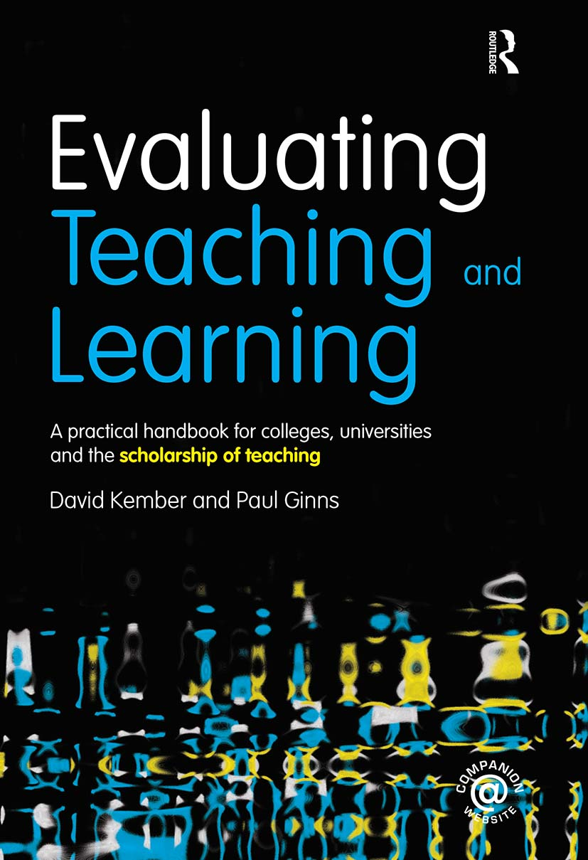 Evaluating Teaching and Learning: A practical handbook for colleges, universities and the scholarship of teaching (Paperback) book cover