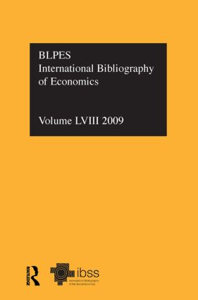 IBSS: Economics: 2009 Vol.58: International Bibliography of the Social Sciences (Hardback) book cover