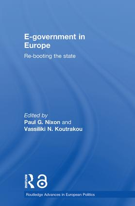 E-government in Europe: Re-booting the State (Paperback) book cover