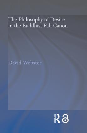 The Philosophy of Desire in the Buddhist Pali Canon book cover