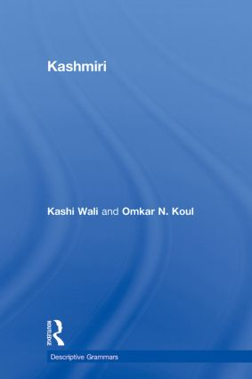 Kashmiri: A Cognitive-Descriptive Grammar (Paperback) book cover