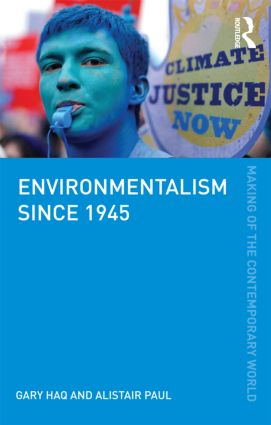 Environmentalism since 1945 (Paperback) book cover