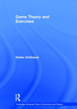 Game Theory and Exercises (Hardback) book cover