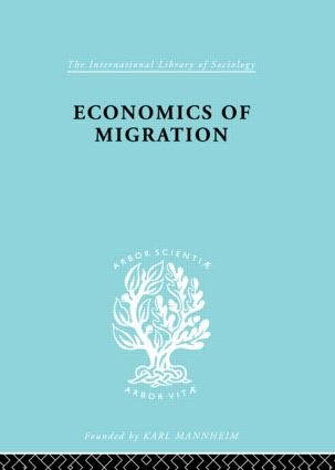 Economics of Migration (Paperback) book cover