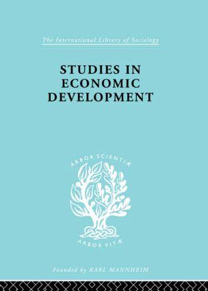 Studies in Economic Development: 1st Edition (Paperback) book cover