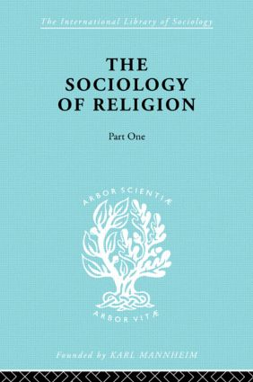Soc Relign Pt1:Est Relg Ils 79: 1st Edition (Paperback) book cover