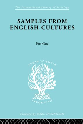 Samples from English Cultures: Part 1, 1st Edition (Paperback) book cover