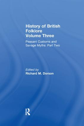 History of British Folklore: Volume 3, 1st Edition (Paperback) book cover