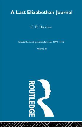 A Last Elizabethan Journal V3: 1st Edition (Paperback) book cover