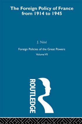 Foreign Pol France 1914-45  V7