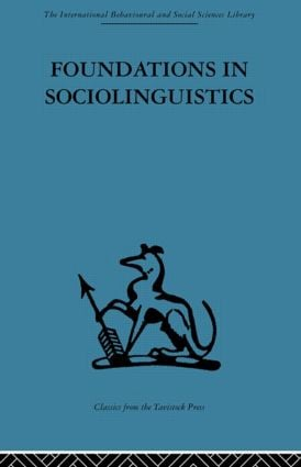 Foundations in Sociolinguistics: An ethnographic approach, 1st Edition (Paperback) book cover