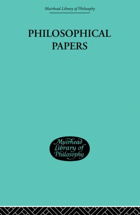 Philosophical Papers: 1st Edition (Paperback) book cover
