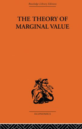 The Theory of Marginal Value: 1st Edition (e-Book) book cover