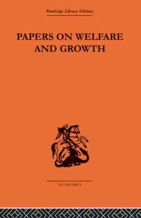Papers on Welfare and Growth: 1st Edition (Paperback) book cover