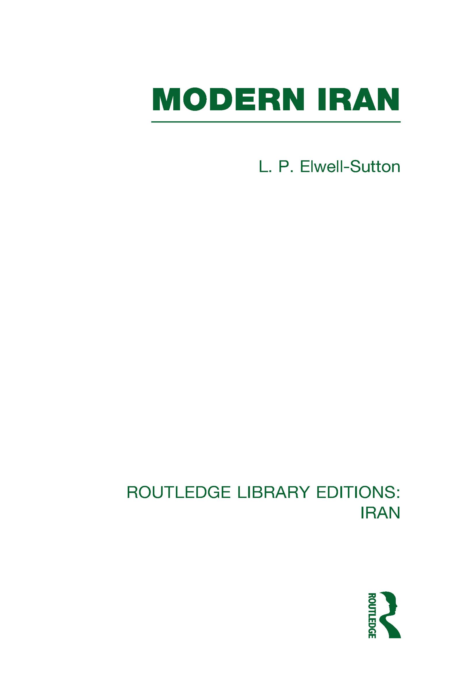 Modern Iran (RLE Iran A) (Hardback) book cover