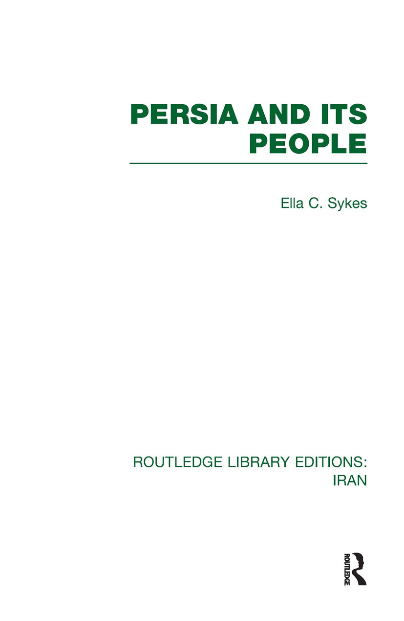 Persia and its People (RLE Iran A): 1st Edition (e-Book) book cover