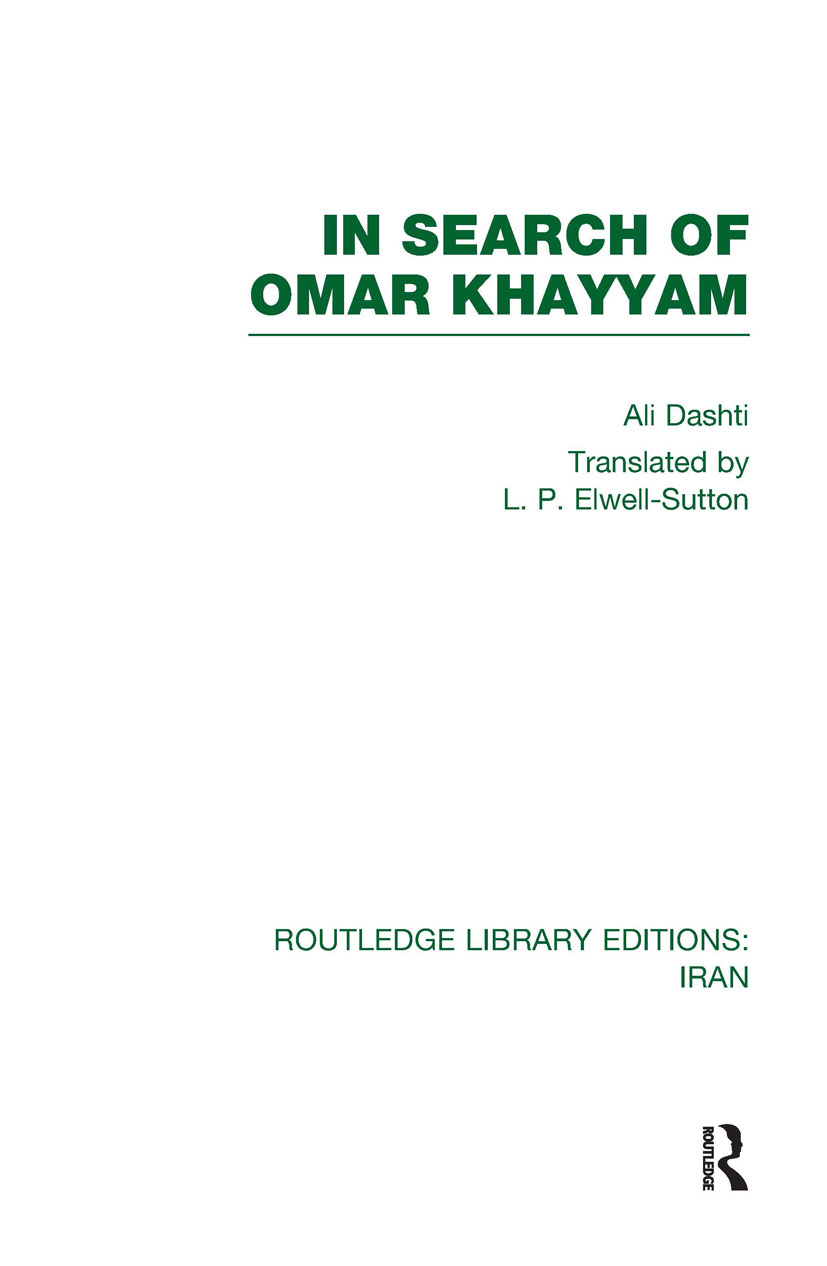 In Search of Omar Khayyam (RLE Iran B): 1st Edition (Hardback) book cover