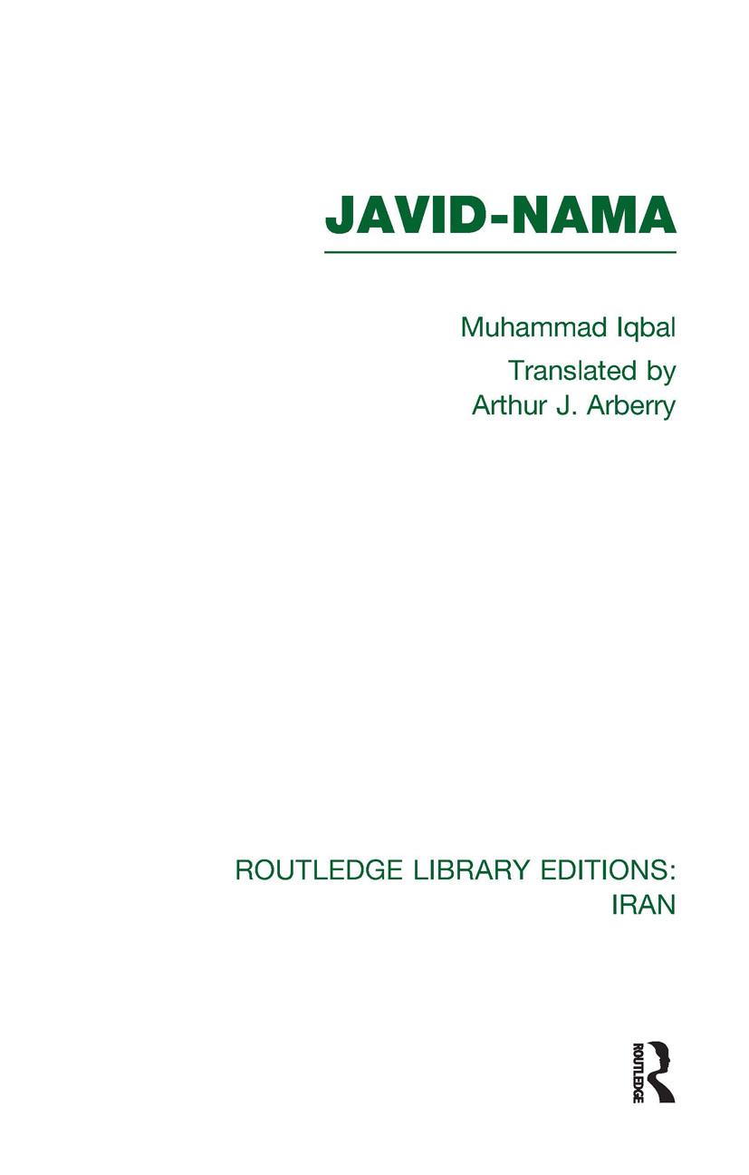 Javid-Nama (RLE Iran B) (Hardback) book cover