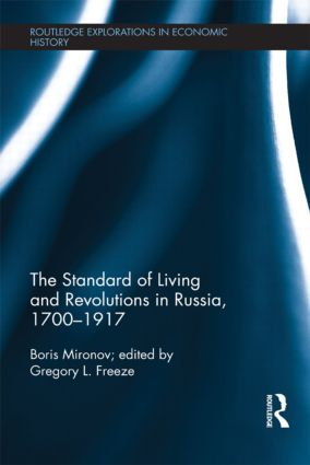The Standard of Living and Revolutions in Imperial Russia, 1700-1917 (Hardback) book cover