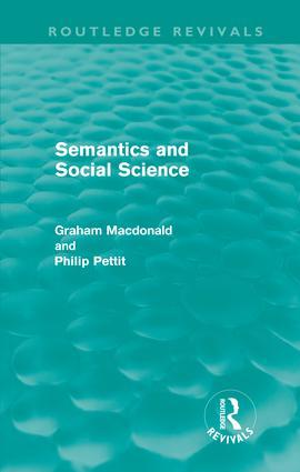 Semantics and Social Science (Hardback) book cover