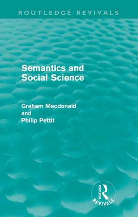 Semantics and Social Science (Routledge Revivals): 1st Edition (Paperback) book cover
