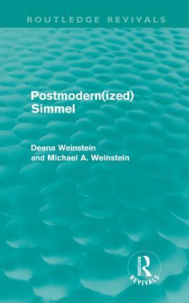 Postmodernized Simmel (Hardback) book cover