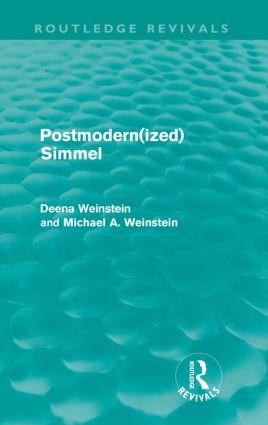 Postmodernized Simmel: 1st Edition (Paperback) book cover