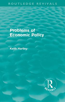 Problems of Economic Policy (Routledge Revivals) (Paperback) book cover