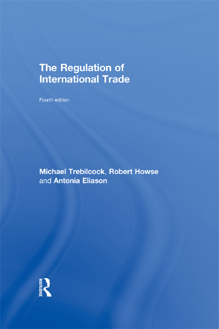 The Regulation of International Trade: 4th Edition (Paperback) book cover