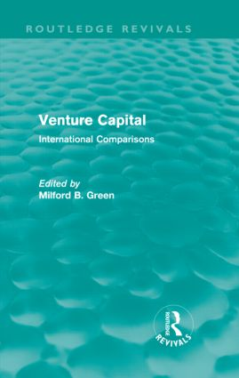 Venture Capital: International Comparions (Hardback) book cover