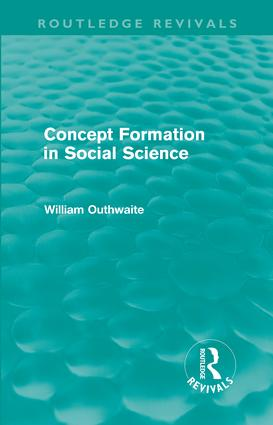 Concept Formation in Social Science (Routledge Revivals) (Paperback) book cover