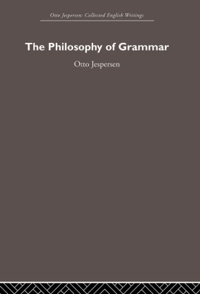 The Philosophy of Grammar (Paperback) book cover