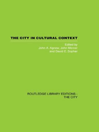 The City in Cultural Context (e-Book) book cover
