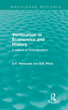 Verification in Economics and History: A Sequel to 'Scientifization' (Hardback) book cover
