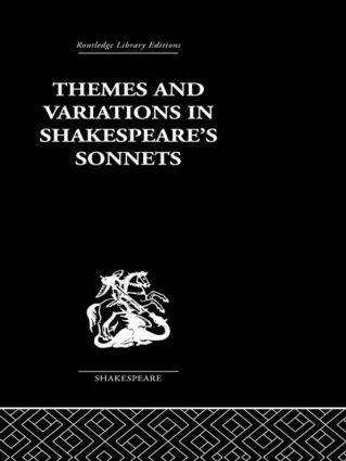 Themes and Variations in Shakespeare's Sonnets (Paperback) book cover