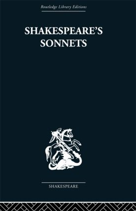 Shakespeare's Sonnets: 1st Edition (Paperback) book cover