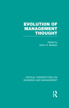 Evolution of Management Thought book cover