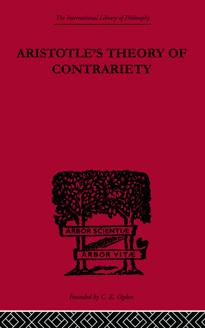 Aristotle's Theory of Contrariety book cover