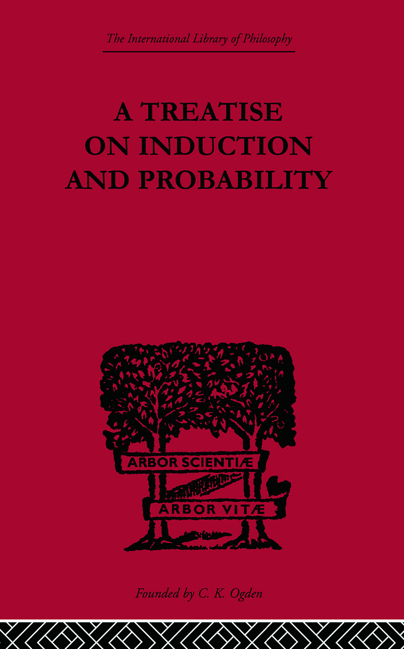 A Treatise on Induction and Probability: 1st Edition (Paperback) book cover