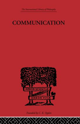 Communication: A Philosophical Study of Language book cover