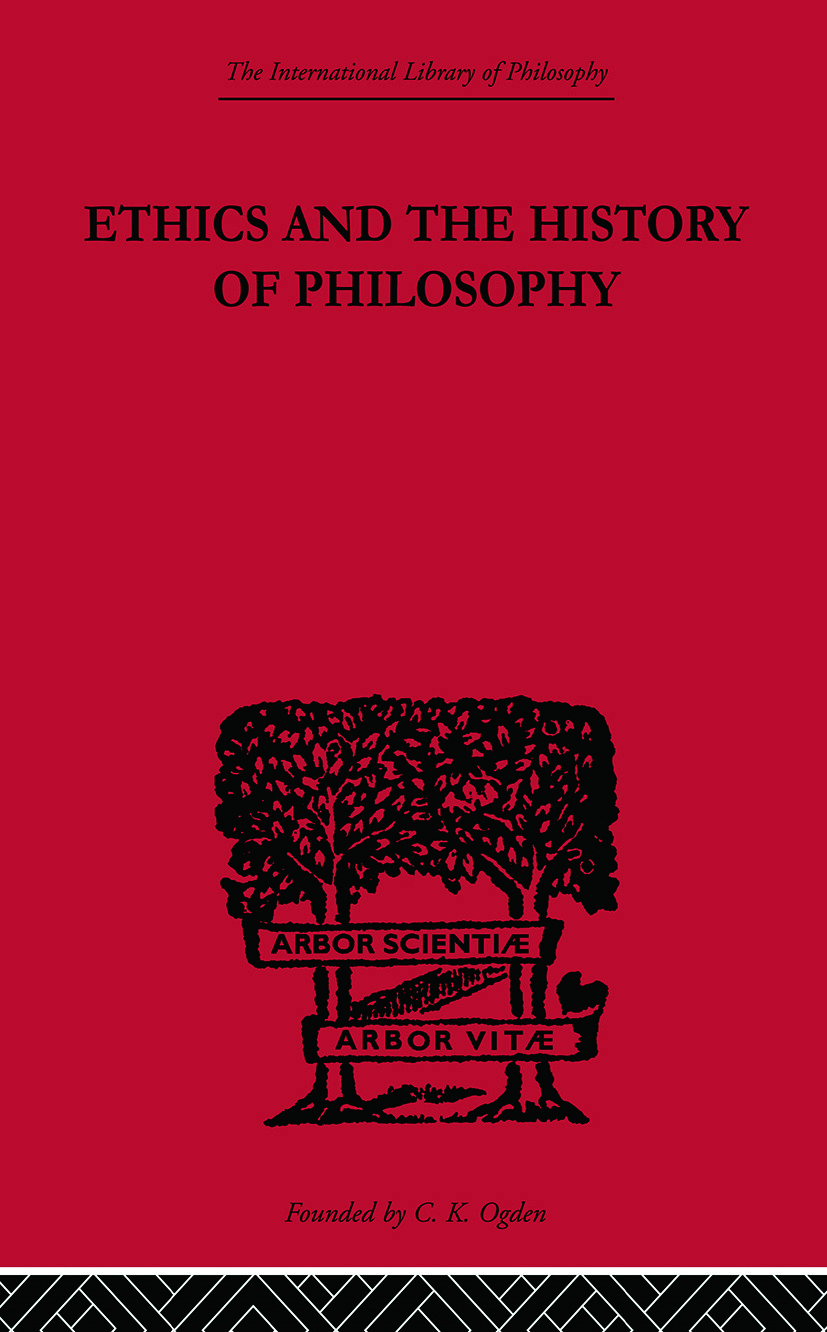 Ethics and the History of Philosophy: Selected Essays book cover