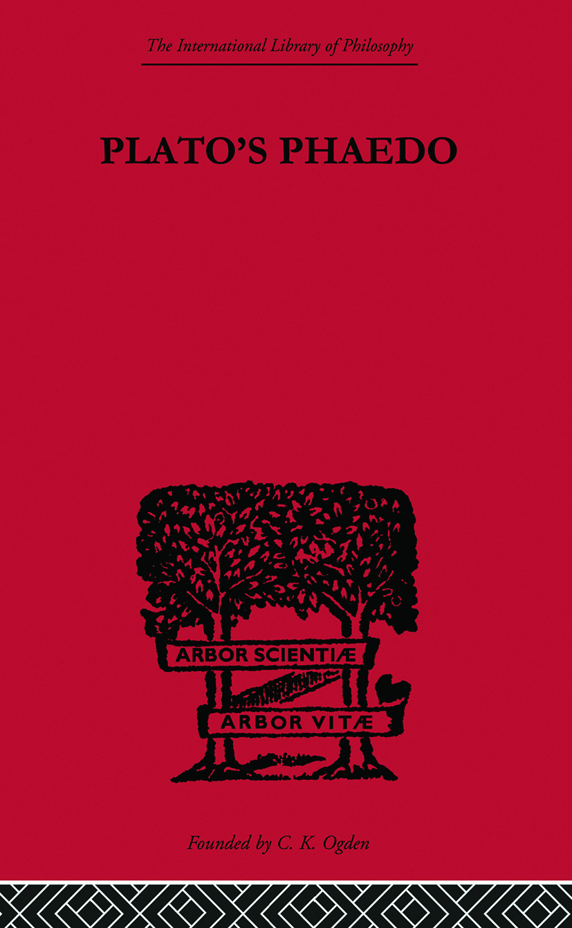 Plato's Phaedo: A Translation of Plato's Phaedo, 1st Edition (Paperback) book cover