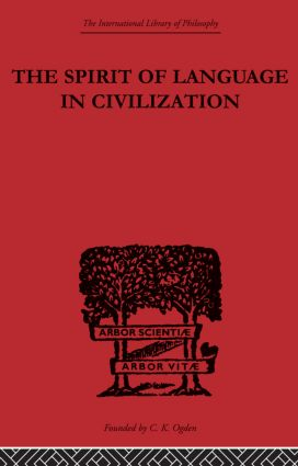 The Spirit of Language in Civilization (Paperback) book cover