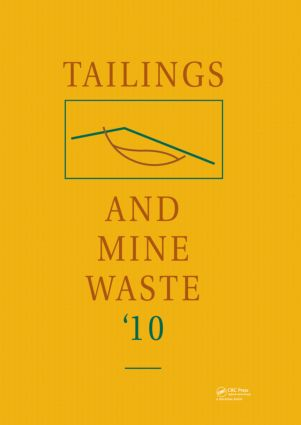 Tailings and Mine Waste 2010: 1st Edition (Hardback) book cover