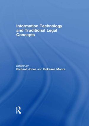 Information Technology and Traditional Legal Concepts: 1st Edition (Hardback) book cover