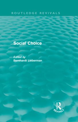 Social Choice (Routledge Revivals) (Hardback) book cover