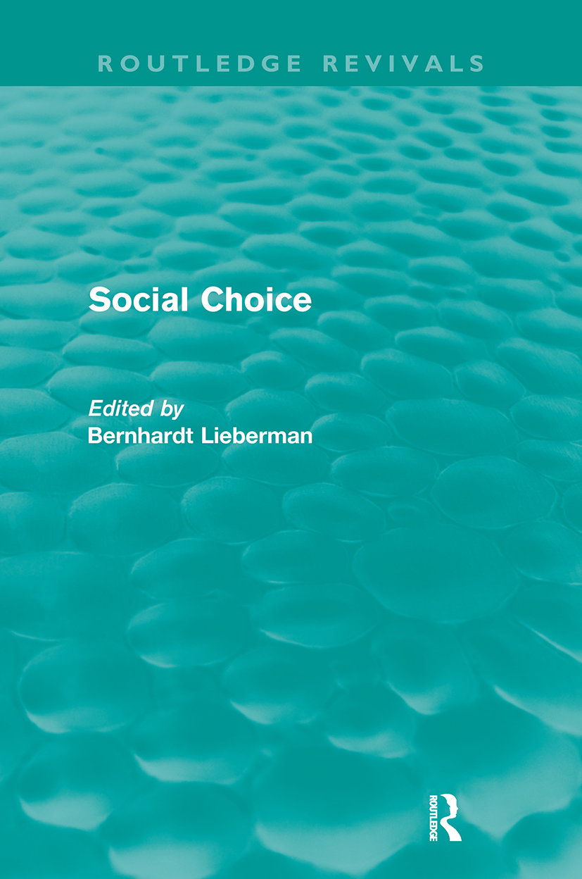 Social Choice (Routledge Revivals): 1st Edition (Paperback) book cover