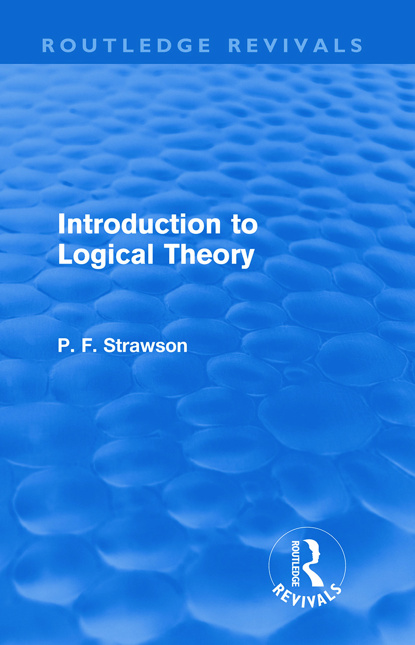 Introduction to Logical Theory book cover